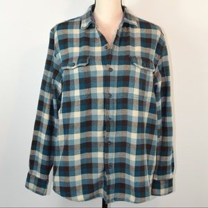 Woolrich Women's Button Down Flannel Shirt | Large